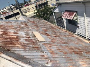 rusted roof needing replacement